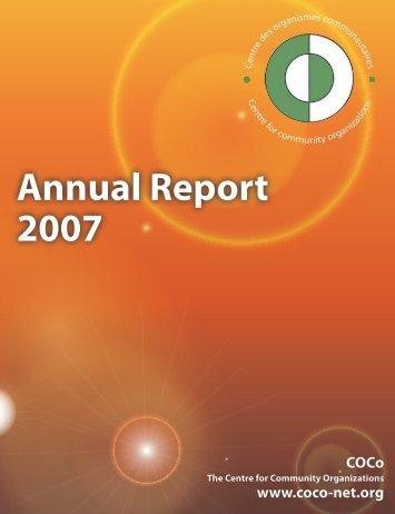 Annual Report 2007 - COCo
