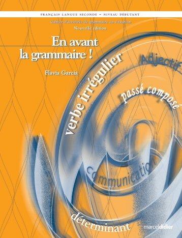 Extrait d'En avant la grammaire! - Les Éditions Marcel Didier