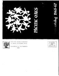 1965-1967 College Catalog - Pacific Oaks College