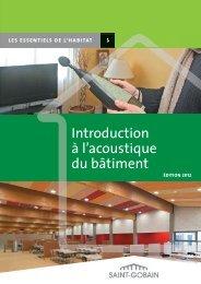 Introduction à l'acoustique du bâtiment - Saint-Gobain