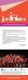la lettre de Justiniana n°5 novembre 2011 - Ensemble Justiniana