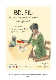 BD-FIL 2008 – Festival international de bande dessinée de ...