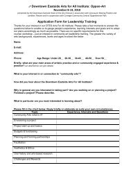 Download Application Form - Heart of the City Festival
