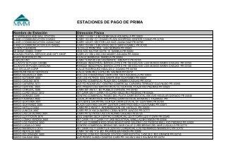 ESTACIONES DE PAGO DE PRIMA - MMM