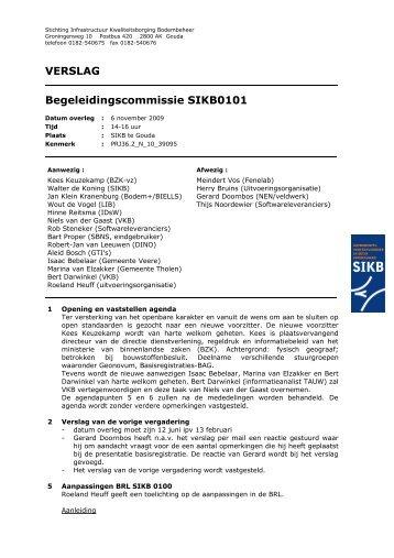 Verslag vergadering begeleidingscommissie d.d. 6 november ... - SIKB