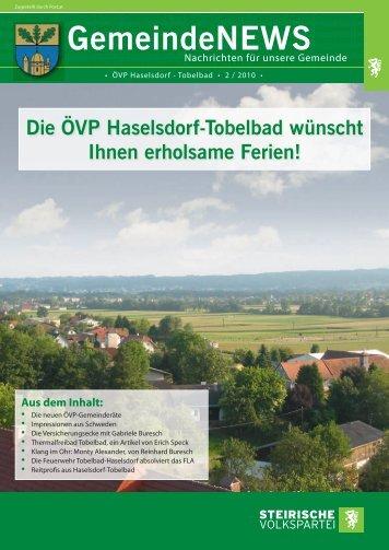 GemeindeNEWS - Haselsdorf - Tobelbad, die Homepage der VP ...
