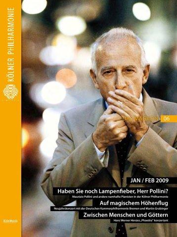 das magazin 01/02 2009 - Kölner Philharmonie
