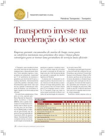 Transpetro investe na reaceleração do setor - Transporte Moderno