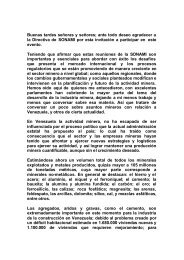 Mineria en Venezuela - Sonami