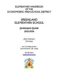 2013-2014 Greenland Handbook - Oconomowoc Area School District