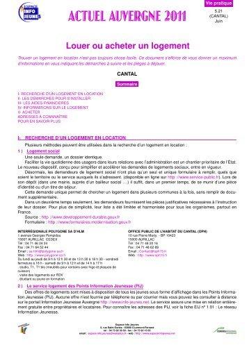 Louer ou acheter un logement - Le portail de l'information jeunesse ...