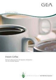 Instant Coffee pdf, 507.6 KB - GEA Westfalia Separator
