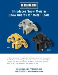 Introduces Snow Meister Snow Guards for Metal Roofs - Snowbrakes