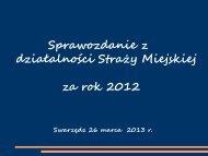 Sprawozdanie z działalności w 2012 roku
