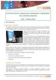 Avis Liège1 - Ateliers du territoire