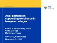 ACS: partners in supporting excellence in two-year ... - Azwestern