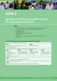 Speaking and listening: guided sessions for language ... - NALDIC