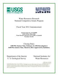 Water Resources Research National Competitive Grants Program ...