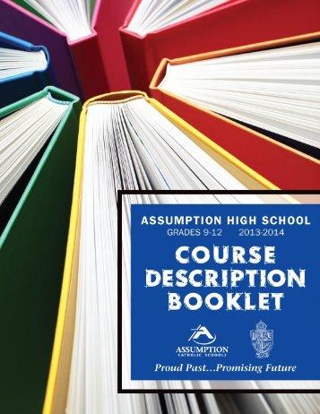 complete course descriptions - Assumption Catholic Schools