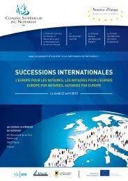 SucceSSionS internationaleS - CNUE