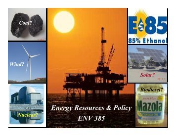 Energy Resources Introductory Survey Answer Key - Azwestern