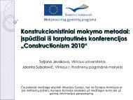 Konstrukcionistiniai mokymo metodai: įspūdžiai iš tarptautinės ...