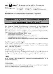 Résolution 2 - SSP - Vaud / Syndicat des services publics