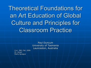 Theoretical Foundations for an Art Education of Global Culture and ...