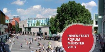 INNENSTADT FORUM MÜNSTER 2013 - Initiative Starke Innenstadt