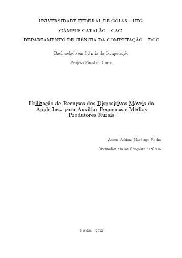 Arquivo PDF - DCC - UFG