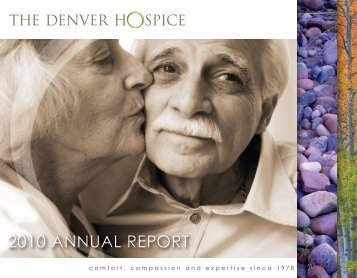 2010 AnnuAl RepoRt - The Denver Hospice