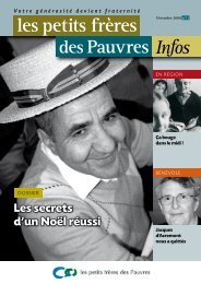 les petits frères des Pauvres Infos n°11 - décembre 2008