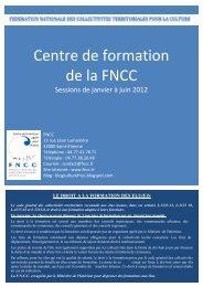 centre de formation - FNCC