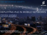 DEPLOYING IPv6 in Mobile Networks
