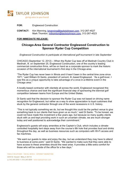 Chicago-Area General Contractor Englewood Construction to