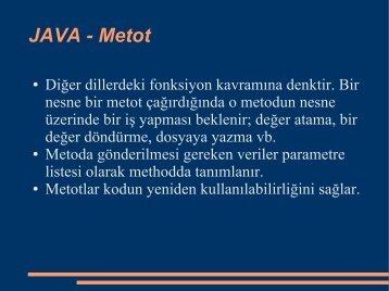 JAVA - Metot