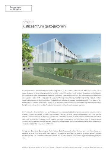 projekt justizzentrum graz-jakomini - Hohensinn Architektur