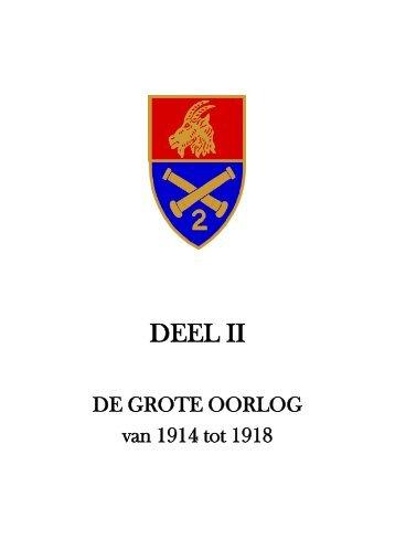 Deel II - De Grote Oorlog - 1914 - 1918 - 2de-artillerie.be