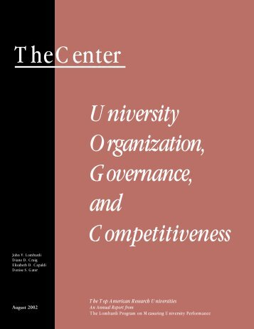 University Governance, Organization, and Competitiveness