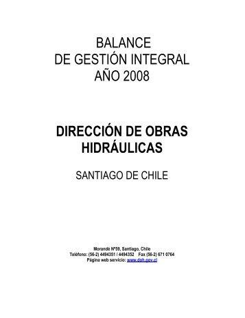 Balance de Gestión Integral 2008 - Dirección de Obras Hidráulicas