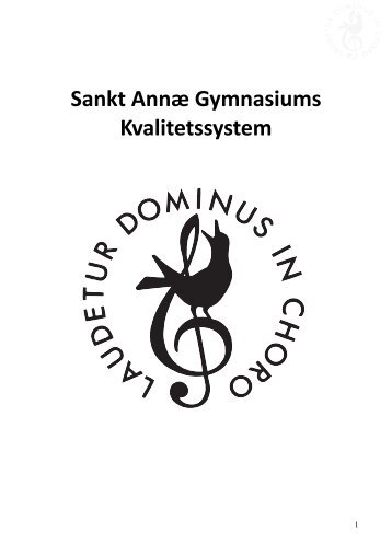 Læs hele kvalitetssystemet - Sankt Annæ Gymnasium