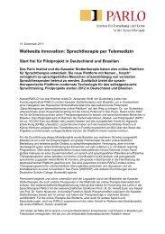 Vollständige Pressemitteilung [PDF] - Kasseler Stottertherapie
