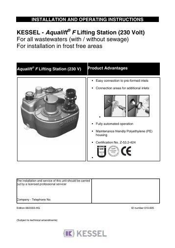 KESSEL – Pumpstation Aqualift F / Aqualift F Duo ... - Kessel Design