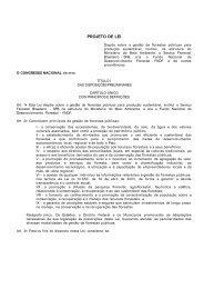Projeto de Lei de Gestão de Florestas Públicas - Sociedade ...