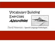 Absurdities - Impact of Special Needs