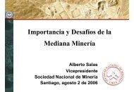 Importancia y desafios del sector Mediana Mineria - Sonami