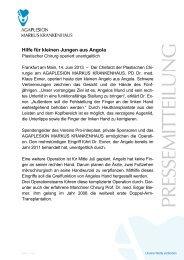 Hilfe für kleinen Jungen aus Angola - Agaplesion.de