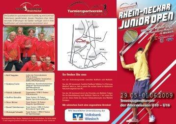 Junior OPEN Junior OPEN - Tennisakademie Rhein-Neckar