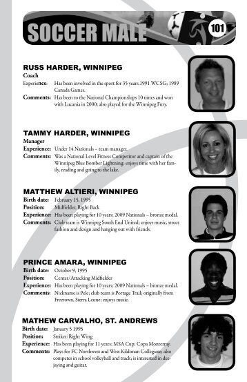 RUSS HARDER, WINNIPEG TAMMY HARDER ... - Sport Manitoba