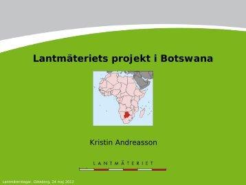 Lantmäteriets projekt i Botswana